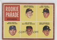 Rookie Parade Pitchers (Sam McDowell, Ron Taylor, Dick Radatz, Art Quirk, Ron N…
