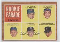Rookie Parade Pitchers (Dan Pfister, Bo Belinsky, Joe Bonikowski, Jim Bouton, D…