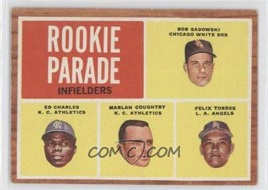 1962 Topps #595 - Rookie Parade Infielders (Bob Sadowski, Ed Charles, Marlan Coughtry, Felix Torres)