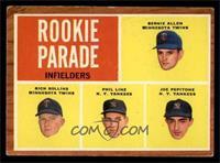 Rookie Parade - Bernie Allen, Rich Rollins, Phil Linz, Joe Pepitone [VG]