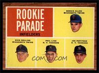 Rookie Parade - Bernie Allen, Rich Rollins, Phil Linz, Joe Pepitone [EXMT]