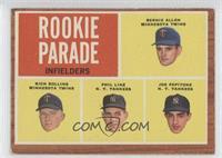 Rookie Parade - Bernie Allen, Rich Rollins, Phil Linz, Joe Pepitone