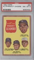 1961 National League Strikeout Leaders (Sandy Koufax, Stan Williams, Don Drysda…