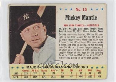 1963 Jell-O #15 - Mickey Mantle