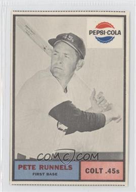1963 Pepsi-Cola Houston Colt .45s - [Base] #N/A - Pete Runnels