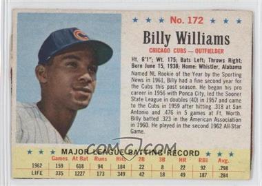 1963 Post - [Base] #172 - Billy Williams [GoodtoVG‑EX]