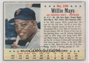 1963 Post #106 - Willie Mays [Authentic]
