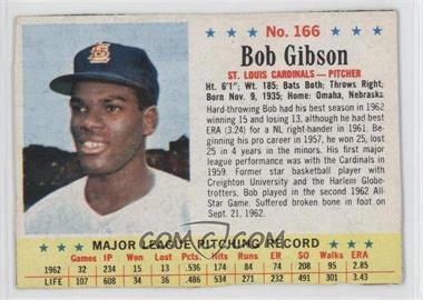 1963 Post #166 - Bob Gibson [Authentic]