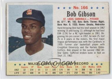 1963 Post #166 - Bob Gibson [Authentic]