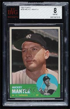 1963 Topps - [Base] #200 - Mickey Mantle [BVG8]