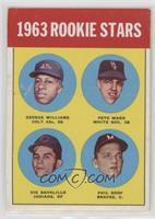 Rookie Stars (George Williams, Pete Ward, Vic Davalillo, Phil Roof)