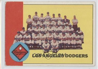 1963 Topps - [Base] #337 - Los Angeles Dodgers Team