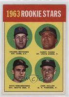 1963 Rookie Stars (Nelson Mathews, Harry Fanok, Dave DeBusschere, Jack Curtis) …