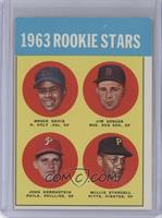 1963 Rookie Stars (Brock Davis, Jim Gosger, John Herrnstein, Willie Stargell)