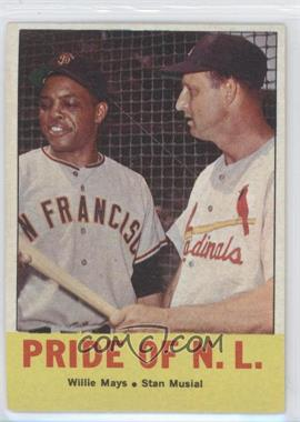 1963 Topps #138 - Pride of the N.L. (Willie Mays, Stan Musial)