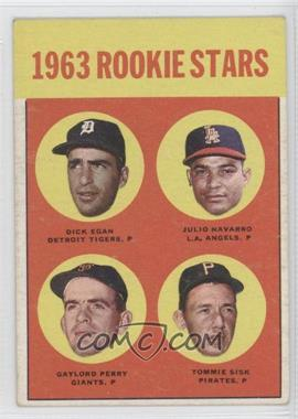1963 Topps #169 - Dick Egan, Julio Navarro, Tommie Sisk, Gaylord Perry [Good to VG‑EX]