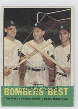 1963 Topps #173 - Bombers' Best (Tom Tresh, Mickey Mantle, Bobby Richardson)