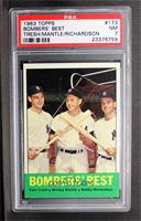 Bombers' Best (Tom Tresh, Mickey Mantle, Bobby Richardson) [PSA 7]