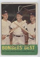 Tom Tresh, Mickey Mantle, Bobby Richardson [Poor to Fair]