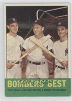 Tom Tresh, Mickey Mantle, Bobby Richardson [Good to VG‑EX]