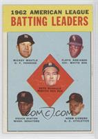 American League Batting Leaders (Mickey Mantle, Floyd Robinson, Pete Runnels, C…