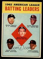 American League Batting Leaders (Mickey Mantle, Floyd Robinson, Pete Runnels, C…
