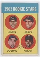 1963 Rookie Stars (Max Alvis, Bob Bailey, Ed Kranepool, Pedro Oliva) [Good&nbsp…