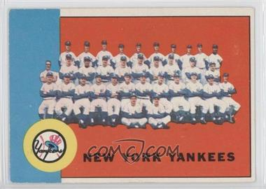 1963 Topps #247 - New York Yankees Team