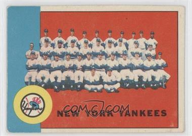 1963 Topps #247 - New York Yankees Team