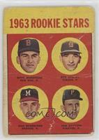 1963 Rookie Stars (Dave Morehead, Dan Schneider, Tom Butters) [Poor]