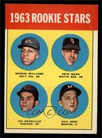 Rookie Stars (George Williams, Pete Ward, Vic Davalillo, Phil Roof) [EX]