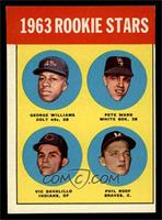Rookie Stars (George Williams, Pete Ward, Vic Davalillo, Phil Roof) [EX]