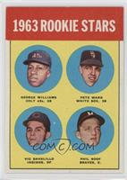 Rookie Stars (George Williams, Pete Ward, Vic Davalillo, Phil Roof)