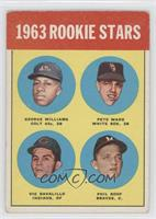 Rookie Stars (George Williams, Pete Ward, Vic Davalillo, Phil Roof) [Good …