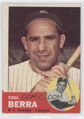 1963 Topps #340 - Yogi Berra