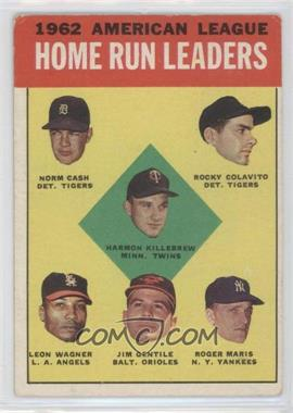 1963 Topps #4 - American League Home Run Leaders (Norm Cash, Rocky Colavito, Harmon Killebrew, Leon Wagner, Jim Gentile, Roger Maris) [Good to VG‑EX]