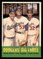 Johnny Podres, Don Drysdale, Sandy Koufax [EXMT]