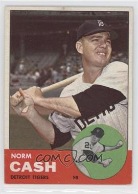 1963 Topps #445 - Norm Cash [Good to VG‑EX]
