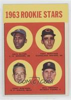 1963 Rookie Stars (Nate Oliver, Tony Martinez, Bill Freehan, Jerry Robinson) [G…