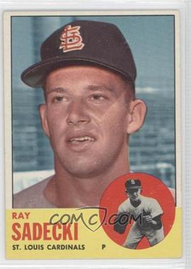 1963 Topps #486 - Ray Sadecki