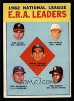 National League ERA Leaders (Bob Shaw, Bob Purkey, Sandy Koufax, Don Drysdale, …