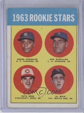 1963 Topps #537 - Rookie Stars (Pete Rose, Ken McMullin, Pedro Gonzalez, Al Weis) [GoodtoVG‑EX]