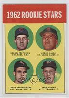 1962 Rookie Stars (Nelson Mathews, Harry Fanok, Dave DeBusschere, Jack Curtis)