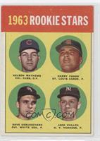 1963 Rookie Stars (Nelson Mathews, Harry Fanok, Dave DeBusschere, Jack Curtis)