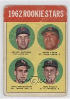 1962 Rookie Stars (Nelson Mathews, Harry Fanok, Dave DeBusschere, Jack Curtis) …