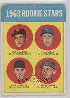 1963 Rookie Stars (Duke Carmel, Bill Haas, Dick Phillips, Rusty Staub) [Poor]