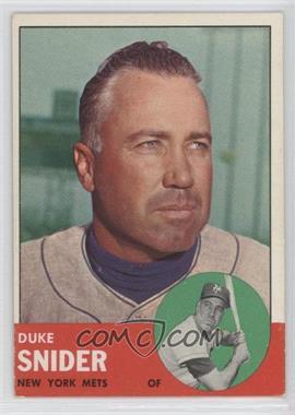 1963 Topps #550 - Duke Snider