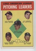 Ralph Terry, Dick Donovan, Ray Herbert, Camilo Pascual, Jim Bunning