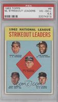 Don Drysdale, Sandy Koufax, Bob Gibson, Turk Farrell, Billy O'Dell [PSA 4.…