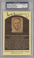 Hank Greenberg [PSA/DNA Certified Auto]